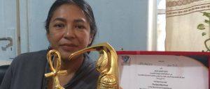 Oaxaqueña gana premio en Egipto por cortometraje