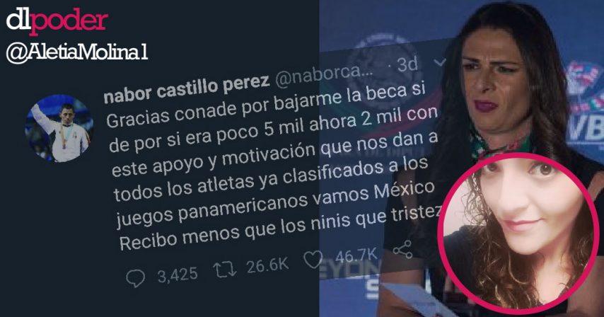 Ana Guevara recorta becas a deportistas pero mantiene a su amiga con dinero público