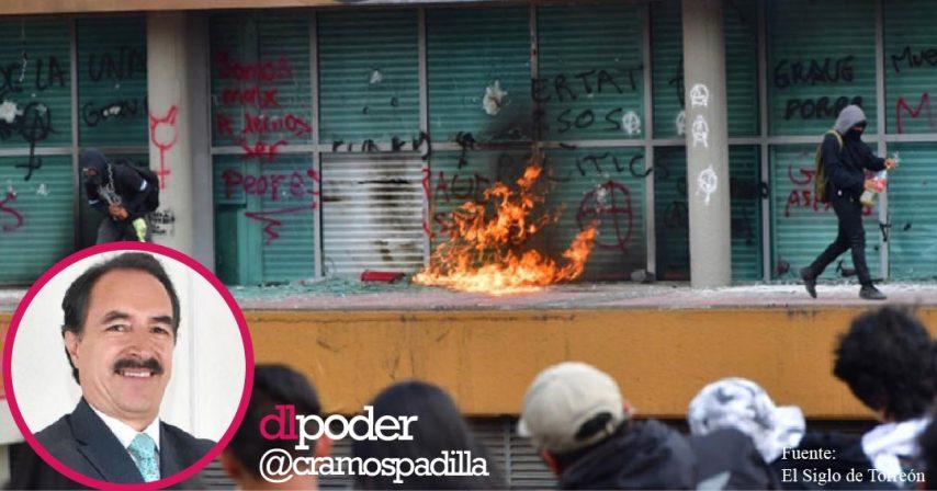 Porros vandalizan Rectoría de la UNAM 2019