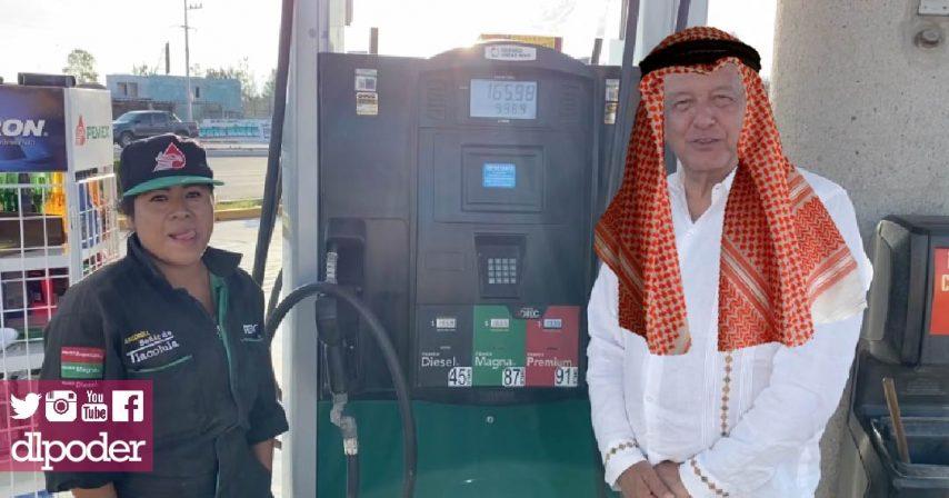 amlo baja la gasolina con mentiras