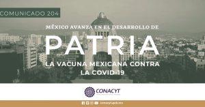 Vacuna Patria contra COVID-19 podría estar lista a finales de 2021