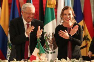 AMLO ofrece cena de bienvenida a jefes de Estado y representantes de países integrantes de la CELAC